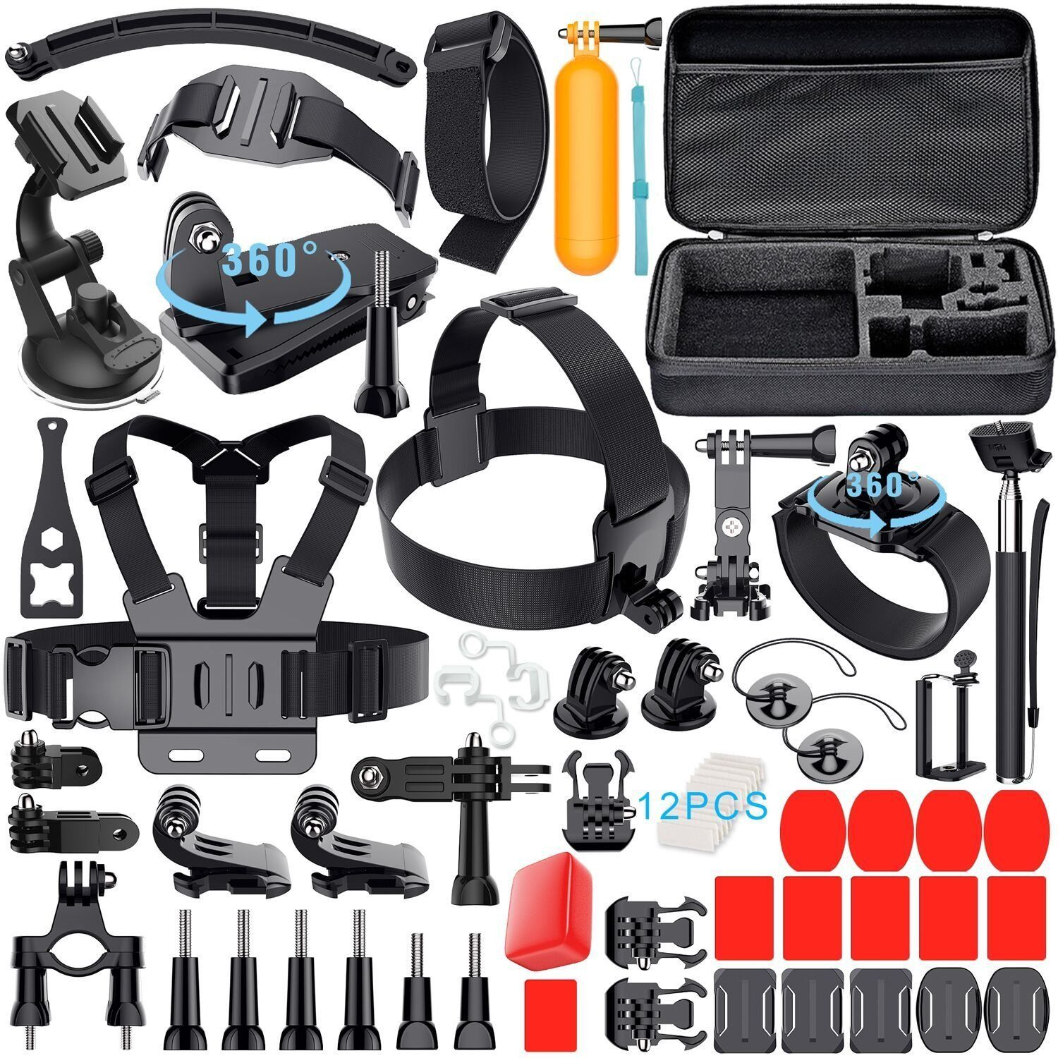 Leknes Tools Bundle for GoPro Hero 5 4 three+ three 2 1 Hero Session Sports activities actions Digicam