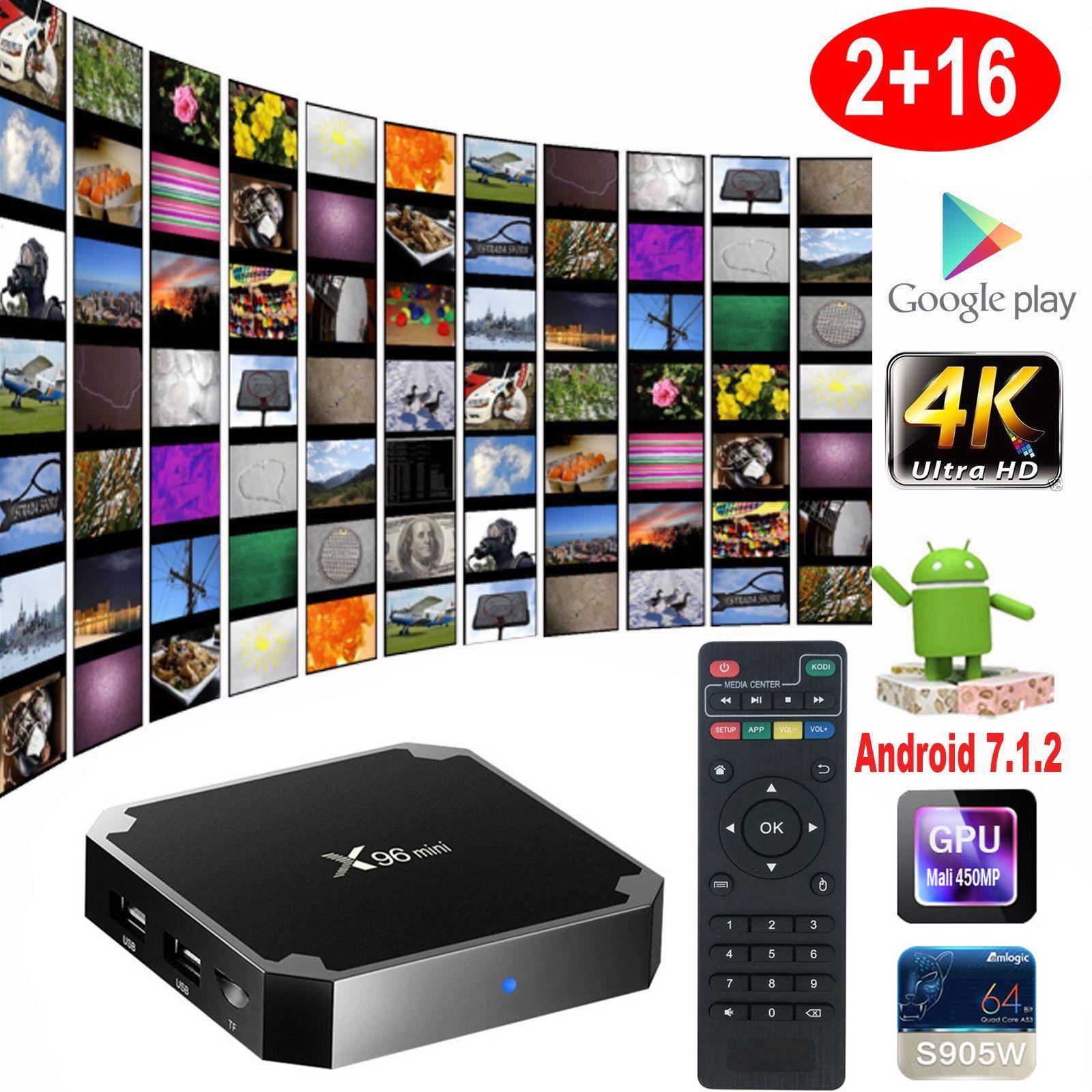 X96 Mini S905W 2GB 16GB TV BOX Android 7.1 Quad Core Good Media Participant WIFI 4K