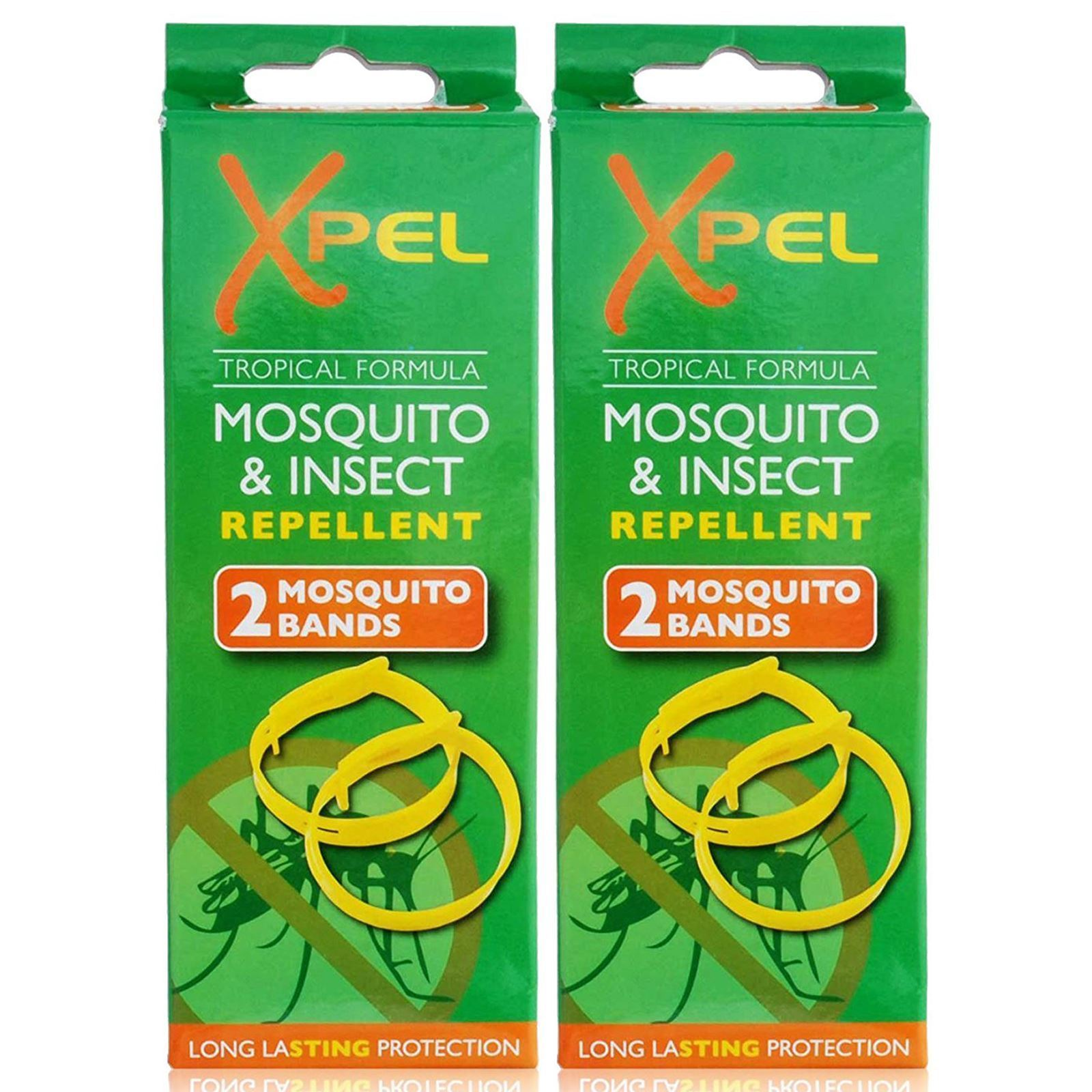 Xpel 4 x Grownup Bug & Parasite Bug Resilient Wrist Bands Security Bracelets