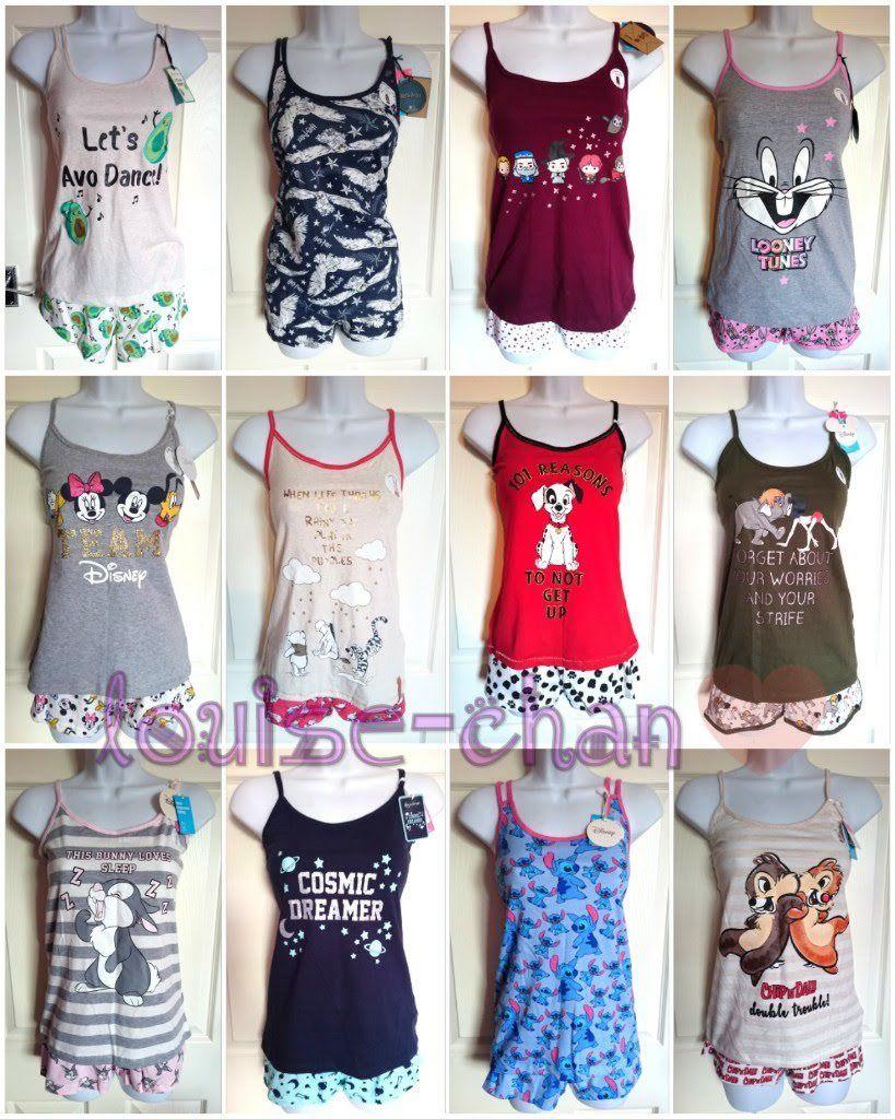 a318e703d088 Women DISNEY Shorts Vest Cami Prime Females Women Pyjamas Set Primark S to  XL NEW! by James Patterson in Post Comment. 🔍. £11.99